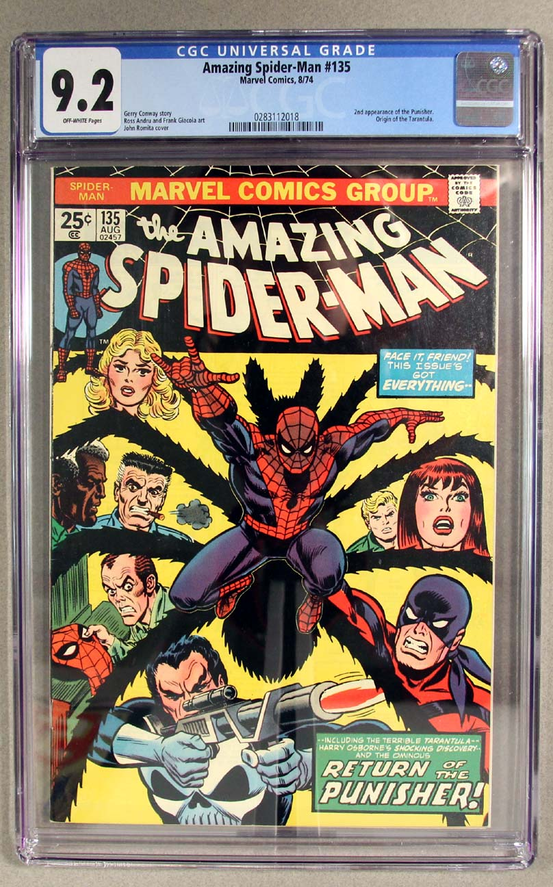 Amazing Spider-Man #135 CGC 9.2 Front Cover