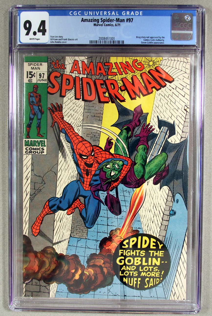 Amazing Spider-Man #97 CGC 9.4 Front Cover