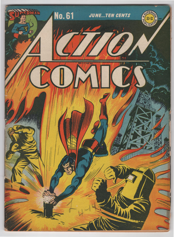 Action Comics #61 VG/F Front Cover