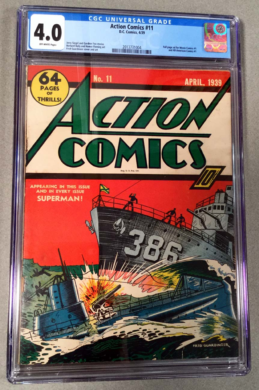 Action Comics #11 CGC 4.0 Front Cover