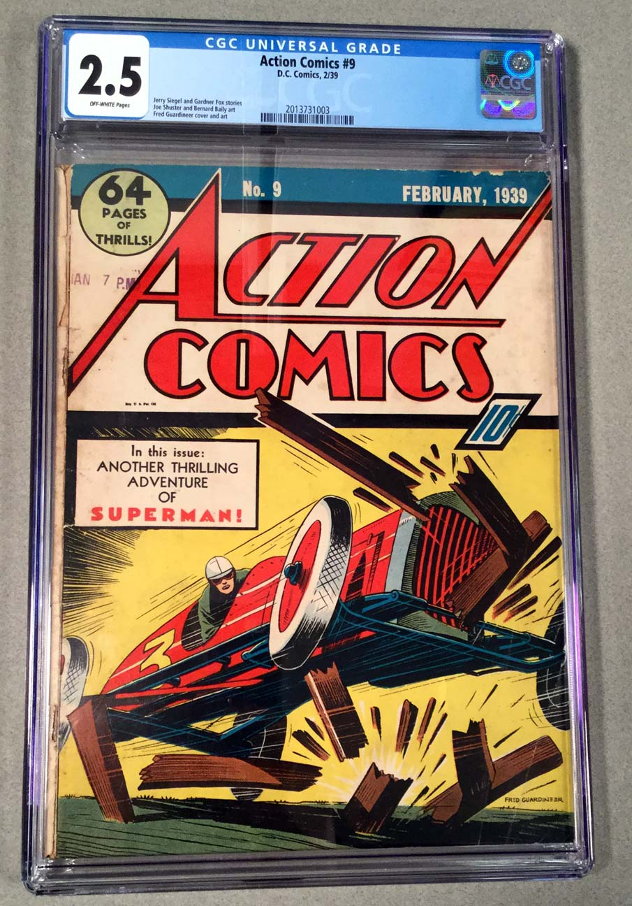 Action Comics #9 CGC 2.5 Front Cover