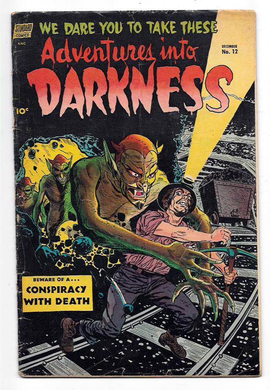 Adventures Into Darkness #12 VG+ Front Cover