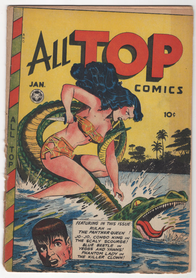 All Top Comics #9 VG+ Front Cover