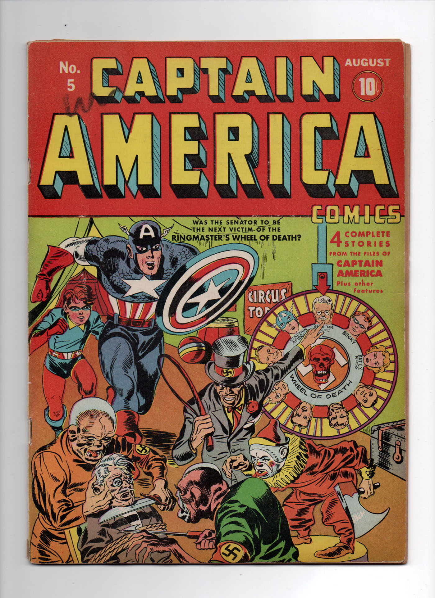 Captain America Comics #5 VF- Front Cover