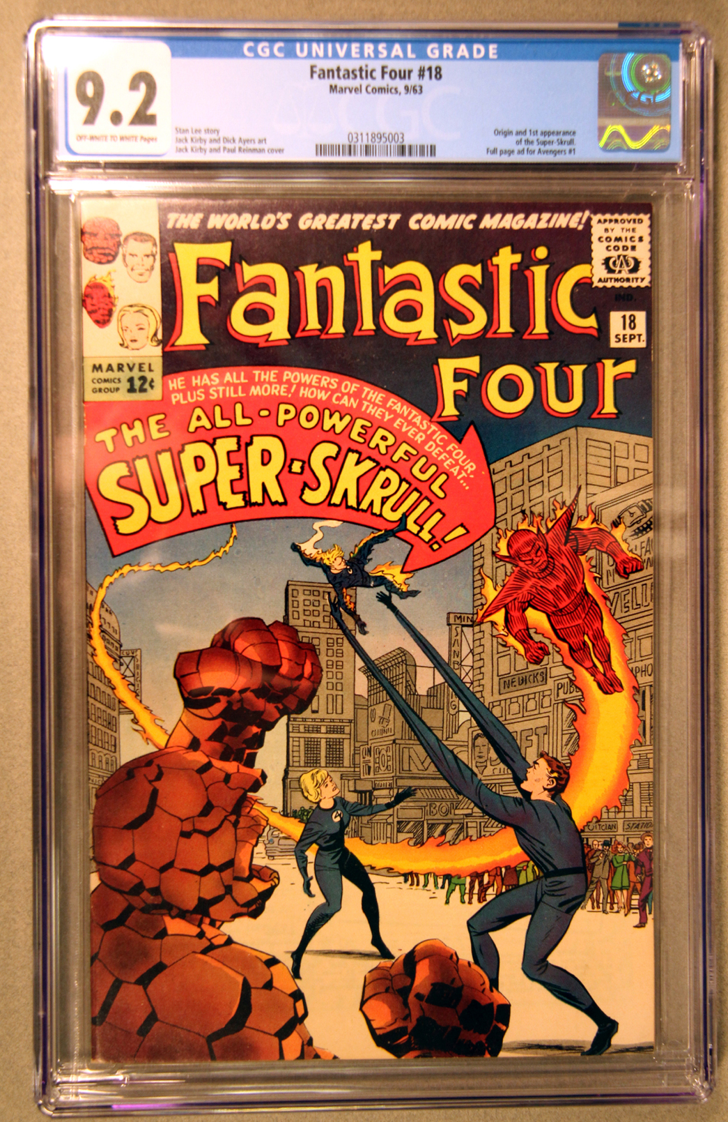 Fantastic Four #18 CGC 9.2 Front Cover