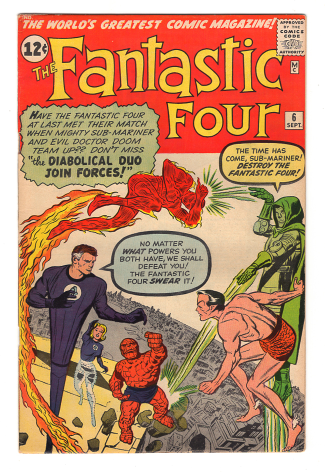 Fantastic Four #6 VF+ Front Cover