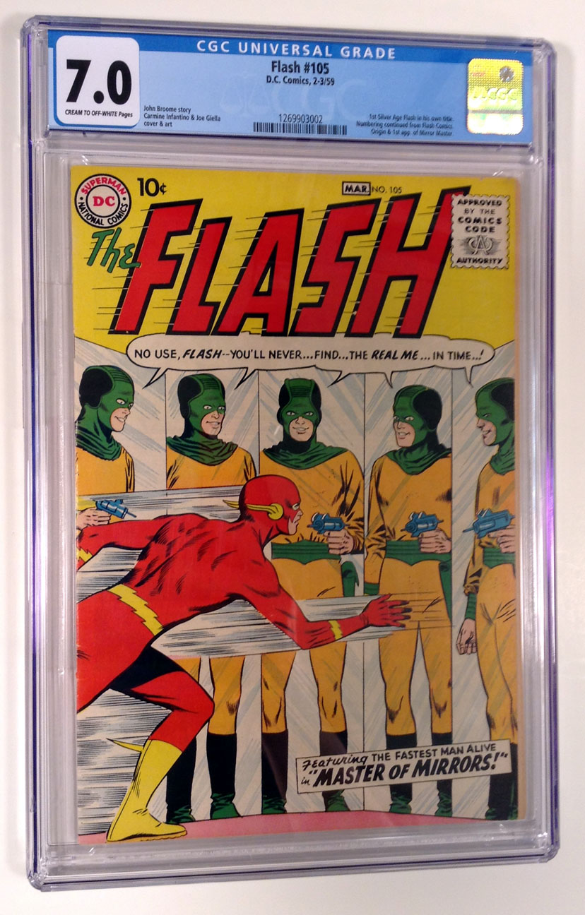 Flash (Silver Age) #105 CGC 7.0 Front Cover