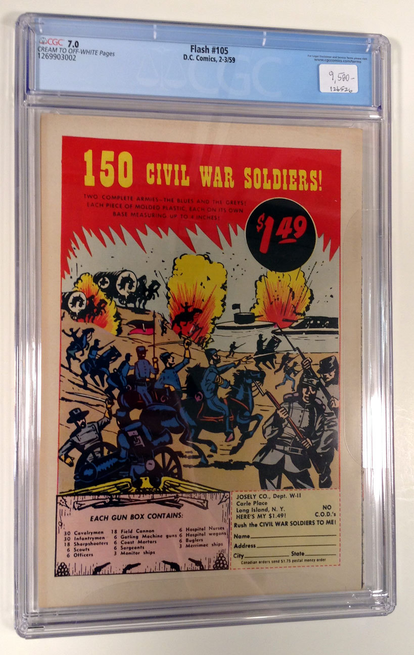 Flash (Silver Age) #105 CGC 7.0 Back Cover