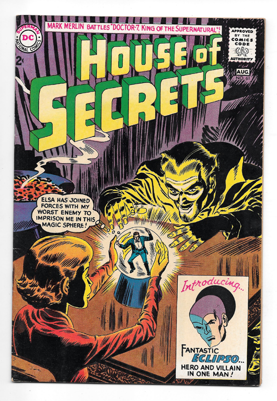 House of Secrets #61 VF+ Front Cover