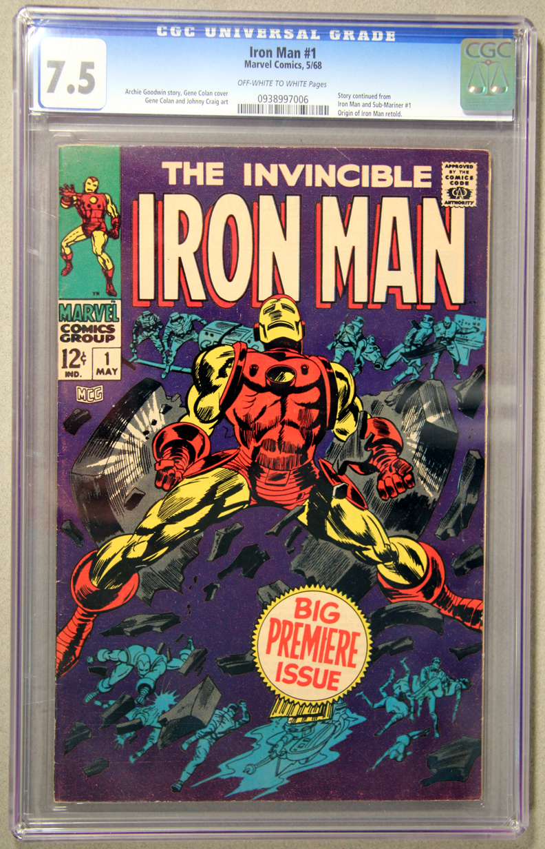 Iron Man #1 CGC 7.5 Front Cover