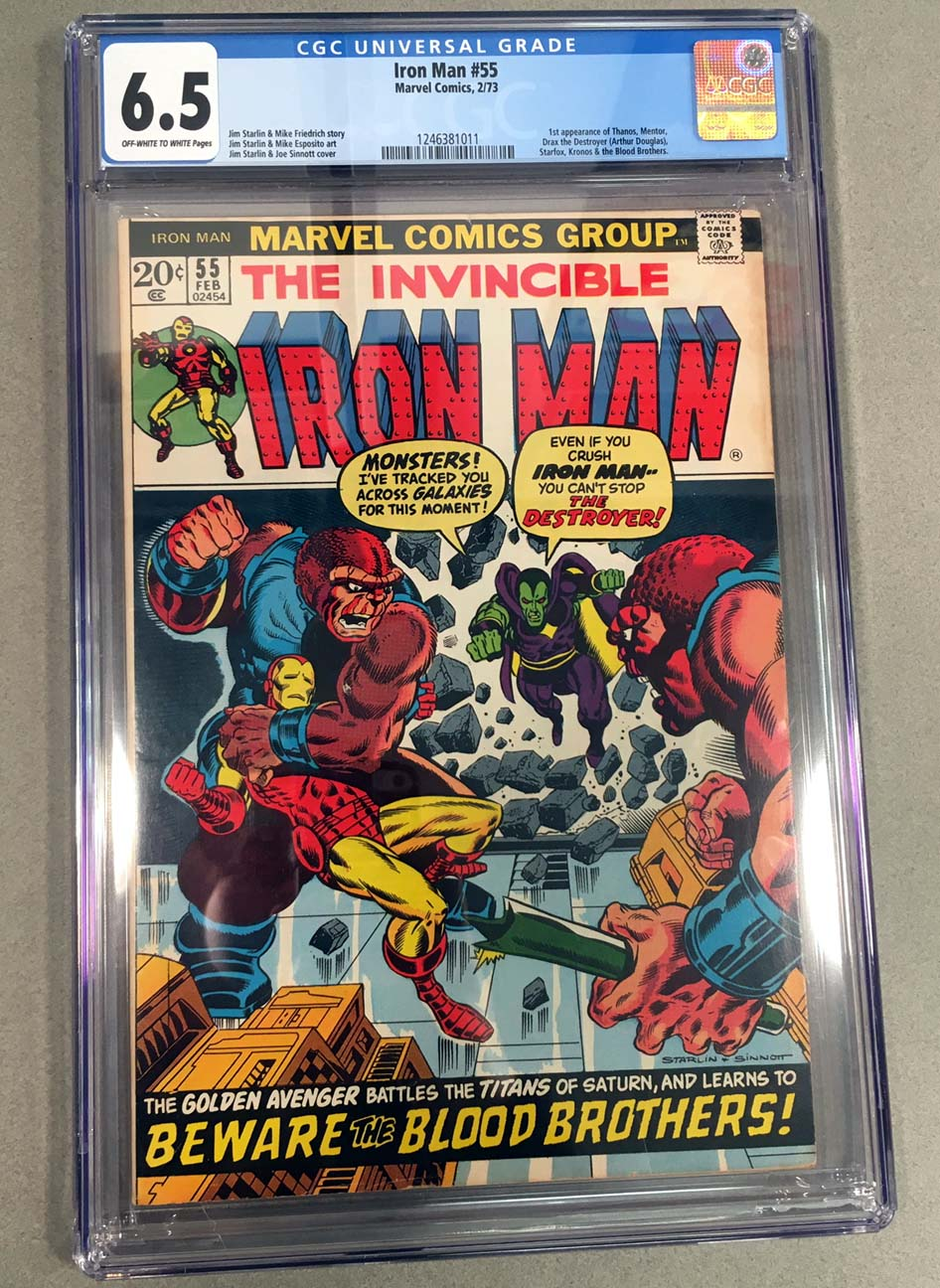 Iron Man #55 CGC 6.5 Front Cover
