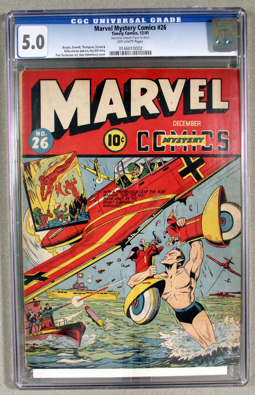 Marvel Mystery Comics #26 CGC 5.0 Front Cover