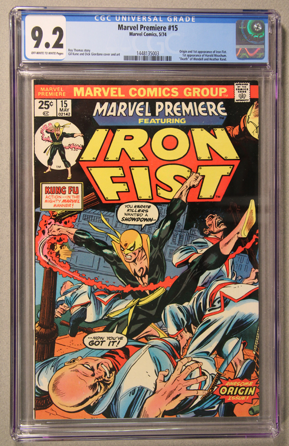 Marvel Premiere #15 CGC 9.2 Front Cover