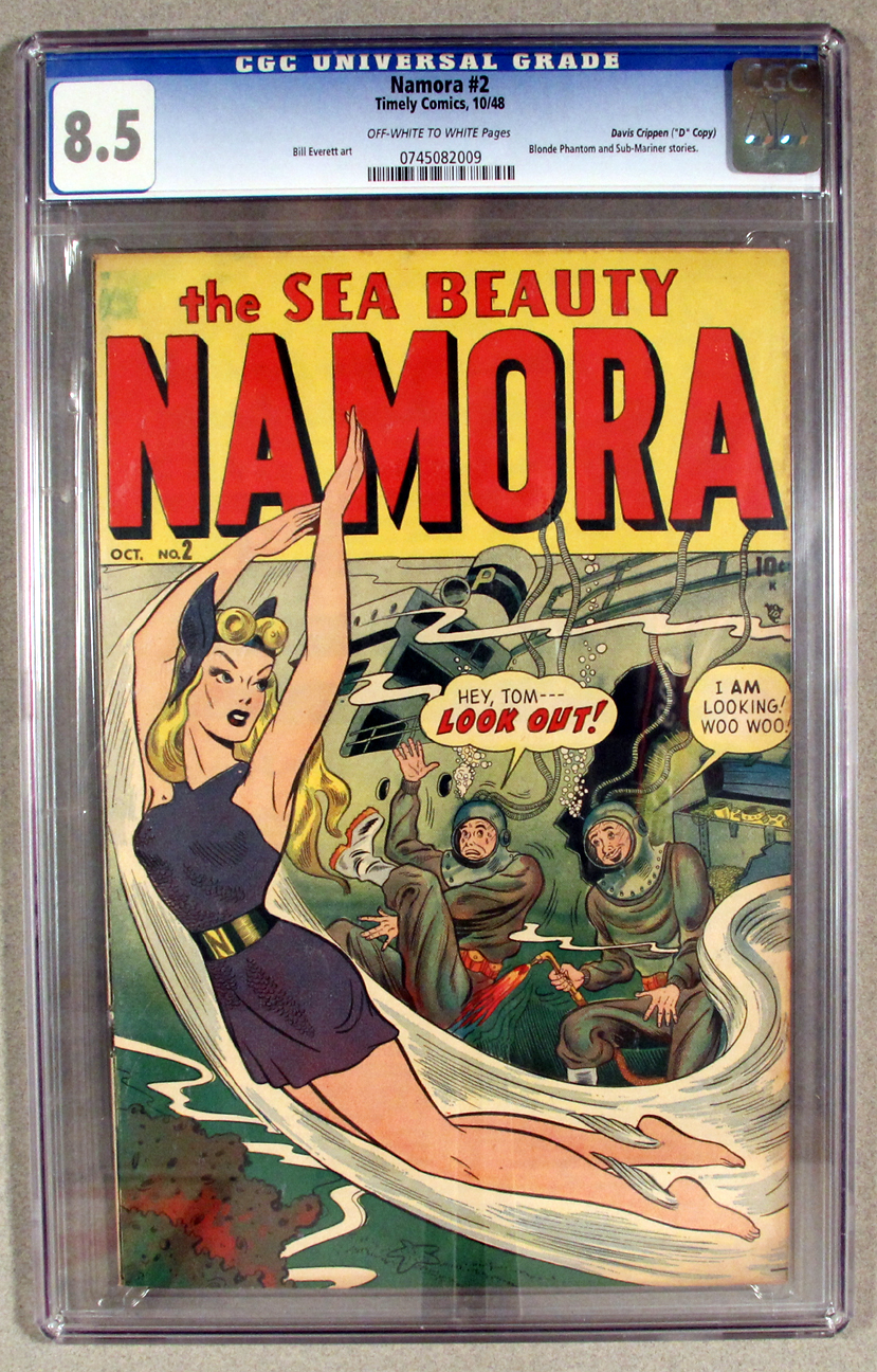 Namora #2 CGC 8.5 Front Cover