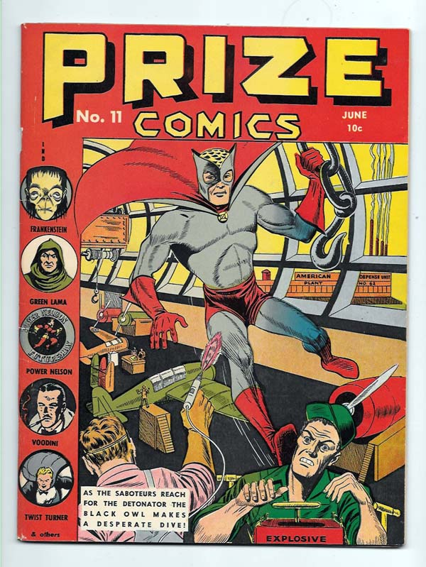 Prize Comics #11 F/VF Front Cover