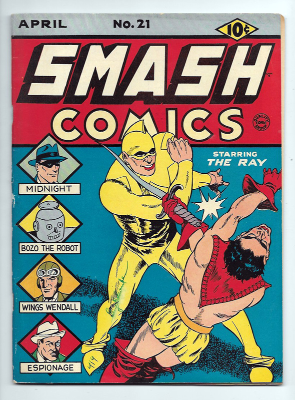 Smash Comics #21 VF Front Cover