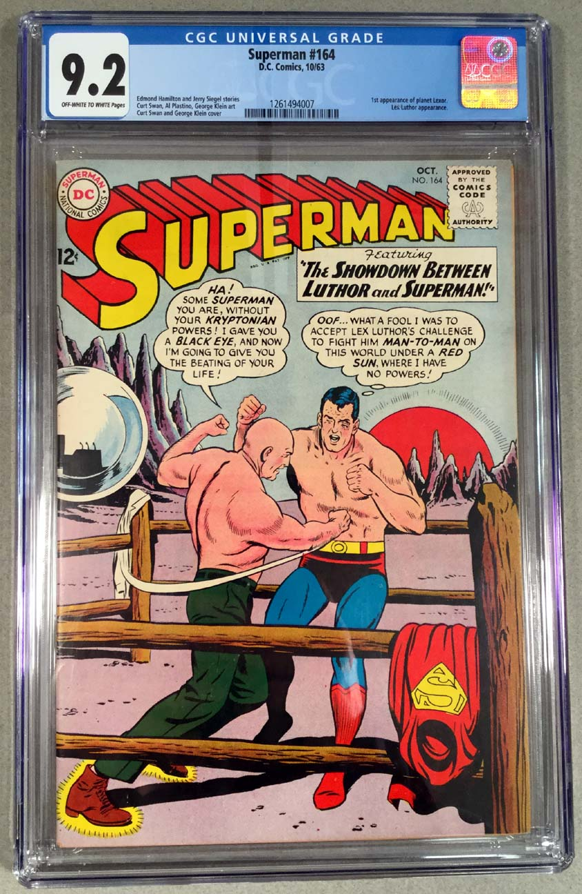 Superman #164 CGC 9.2 Front Cover