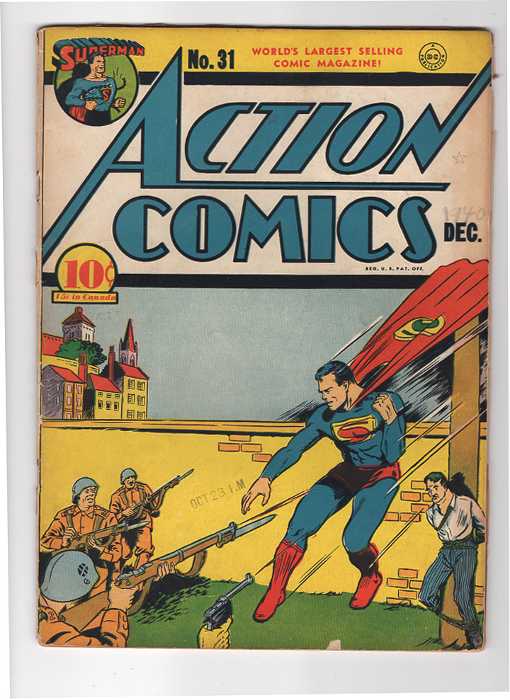 Action Comics #31 VG/F Front Cover