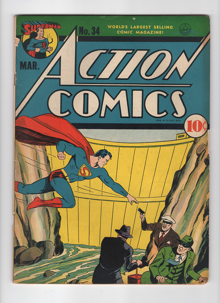 Action Comics #34 F- Front Cover