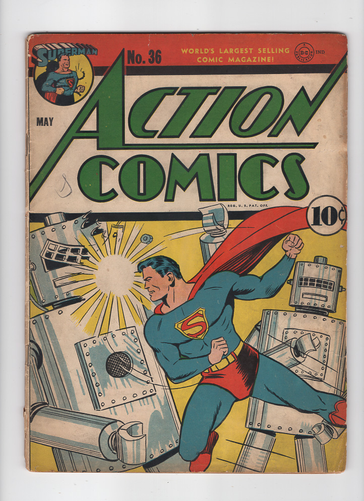 Action Comics #36 VG- Front Cover