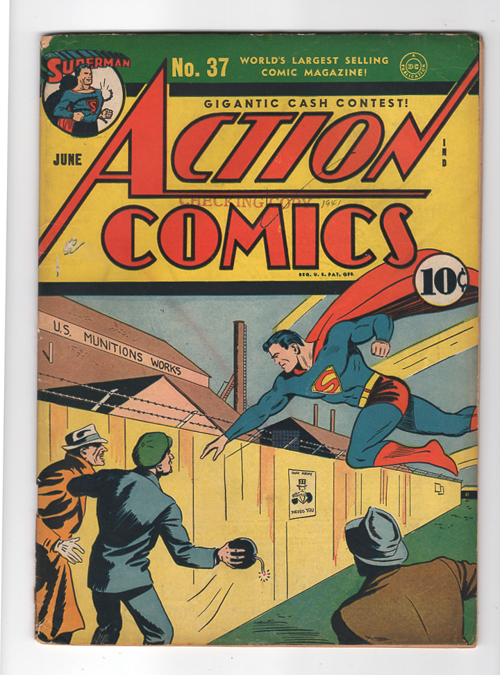Action Comics #37 F-/F Front Cover
