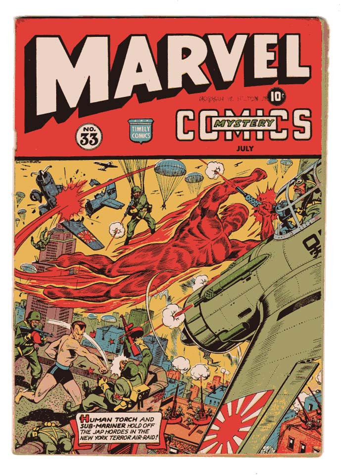 Marvel Mystery Comics #33 F+ Front Cover