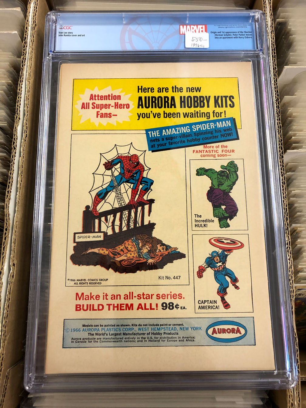 Amazing Spider-Man #46 CGC 8.5 Back Cover
