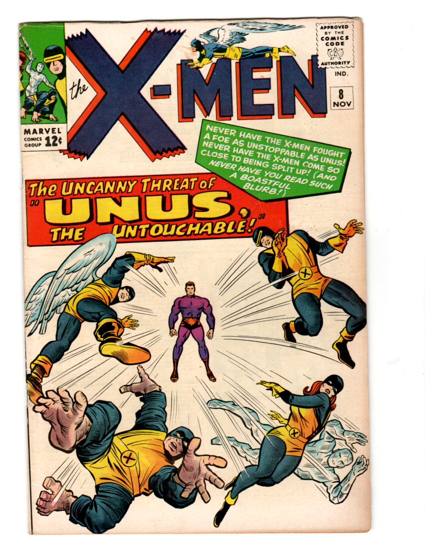 X-Men #8 VF+ Front Cover