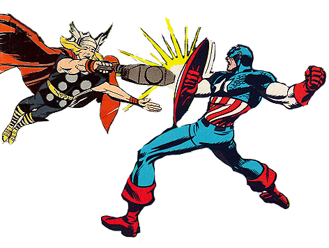 Thor's Hammer vs. Captain America's shield