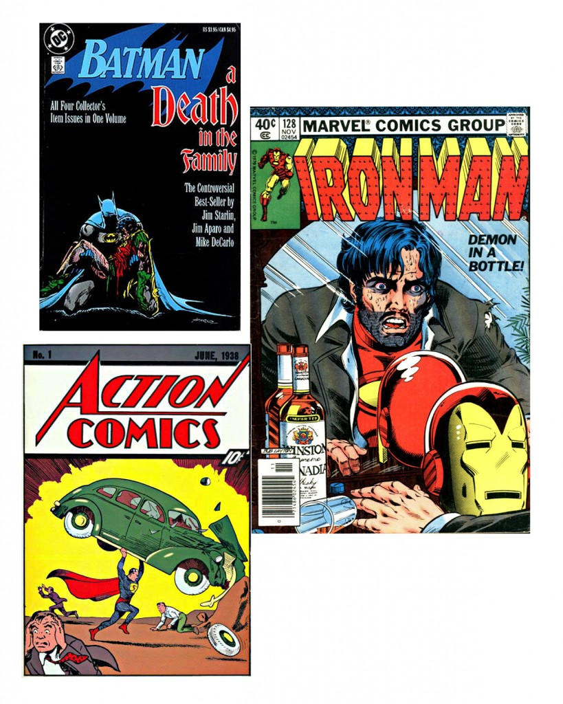 Batman, Death in the Family, Iron Man #128, Action #1