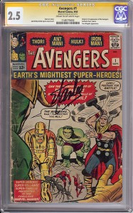 Avengers #1 signed by Stan Lee