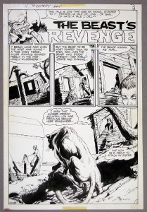Mike Kaluta, HOUSE OF MYSTERY #200 SPLASH PAGE - 'THE BEAST'S REVENGE'
