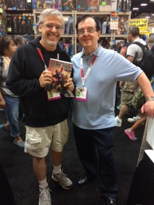 Ted VanLiew poses with Bob Overstreet at the San Diego Comi-Con