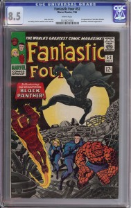 FF 52 is the first appearance of the Black Panther.
