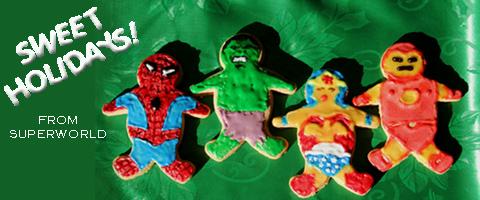 Superhero x-mas cookies