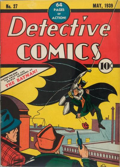 Detective #27, 1st Batman, excellent investment comic